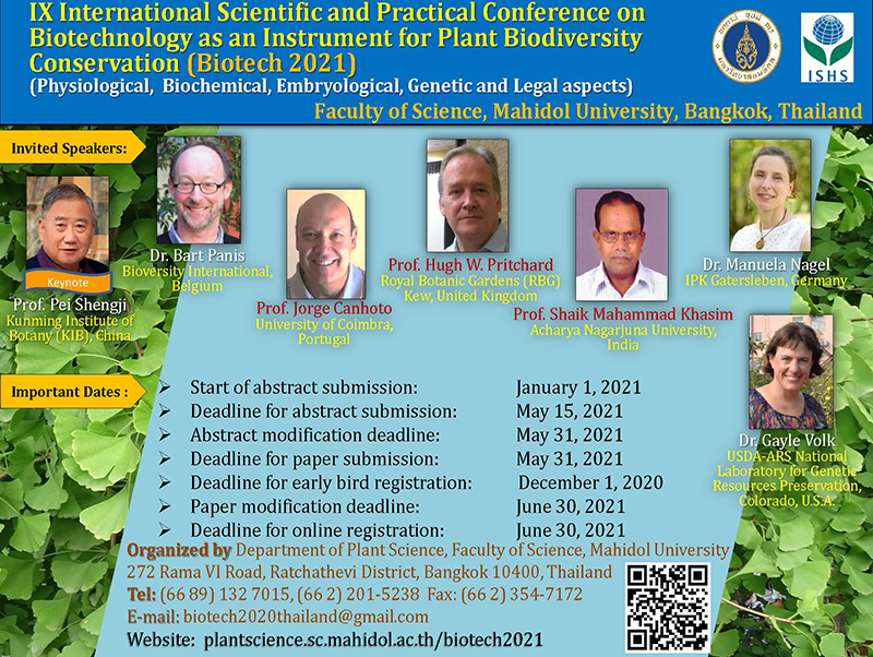 IX International Scientific and Practical Conference on Biotechnology as an Instrument for Plant Biodiversity Conservation