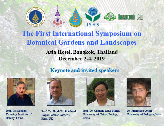 The First International Symposium on Botanical Gardens and Landscapes (BGL 2019)